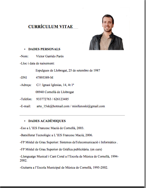Ejemplos De Curriculum Vitae Sencillo En Word Writing An Essay